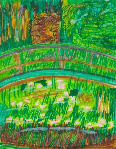 Drawing - A Unique Look At Monet by Susan Schanerman