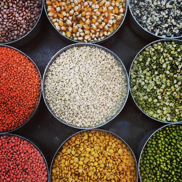Healthy Eating Photograph - A Variety Of Lentils by Anshu Ajitsaria