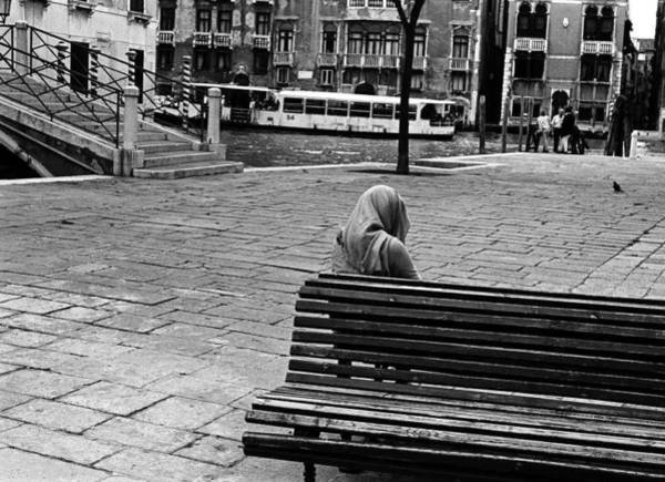 Photograph - A Venetian Woman Alone In Venice, Italy by Elise Hardy