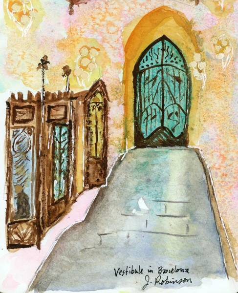 Painting - A Vestibule In Barcelona by Judy Robinson
