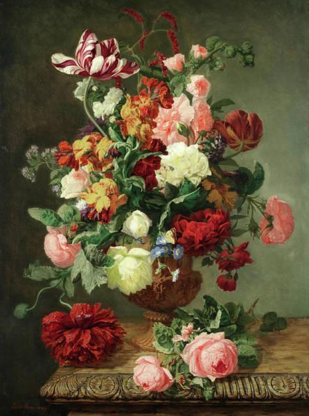 Tulip Bloom Painting - A Vibrant Bouquet by Simon Saint-Jean