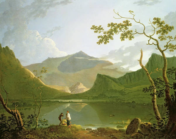 Wall Art - Painting - A View Across The River by Jakob Philipp Hackert