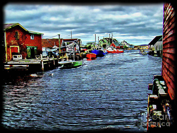 Wall Art - Photograph - A View At Peggy's Cove, Ns, Canada by Al Bourassa