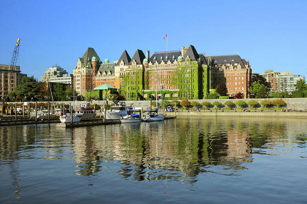 Vancouver City Photograph - A View Of A Castle In Victoria, British by Emilynorton