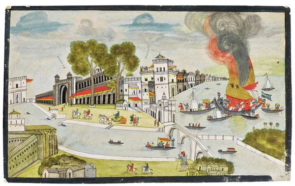 Wall Art - Painting - A View Of A European City, India, Rajasthan, Jaipur, Mid-19th Century 2 by Celestial Images