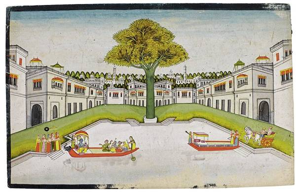 Wall Art - Painting - A View Of A European City, India, Rajasthan, Jaipur, Mid-19th Century by Celestial Images