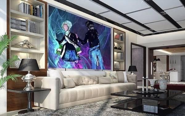 Digital Art - A View Of Art Used As Interior Design by Debra Lynch