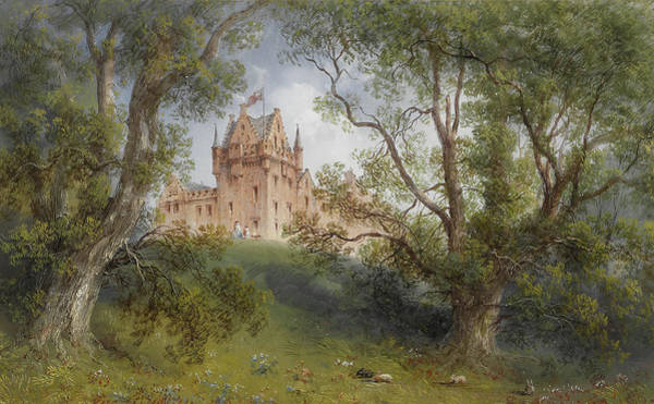 Wall Art - Painting - A View Of Brodick Castle, Isle Of Arran, Scotland by Carlo Bossoli
