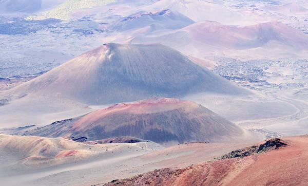 Haleakala Crater Photograph - A View Of Craters At Haleakala National Park, Maui, Hawaii by Derrick Neill