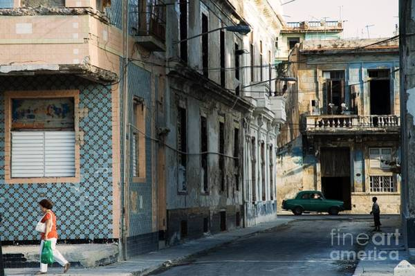 Crumbling Photograph - A View Of Crumbling Buildings In Havana by Roxana Gonzalez