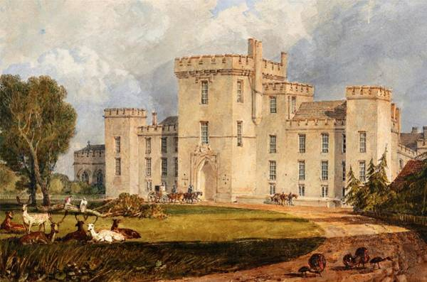 Wall Art - Painting - A View Of Hampton Court Castle In Hertfordshire - Digital Remastered Edition by William Turner