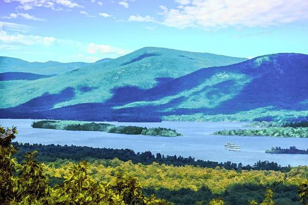 Digital Art - A View Of Lake George,adirondack Park New York. by Rusty R Smith