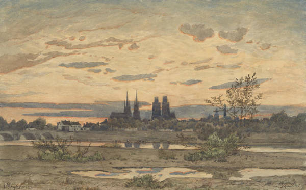 Painting - A View Of Moulins by Henri Harpignies