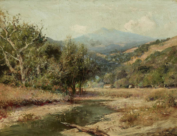 Wall Art - Painting - A View Of Mount Tamalpais by William Keith