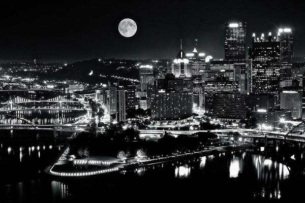 Pa Photograph - A View Of Pittsburgh Pa From Above by Frozen in Time Fine Art Photography