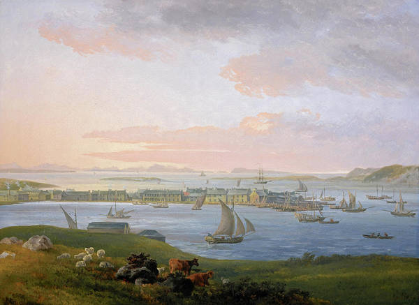 Wall Art - Painting - A View Of Stornoway, 1798 by James Barret