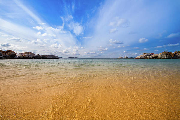 British Virgin Islands Photograph - A View Of The Caribbean Sea From The by Lotus Carroll