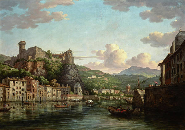 Artichoke Painting - A View Of The Chateau De Pierre Scize On The River Saone At Lyon by William Marlow