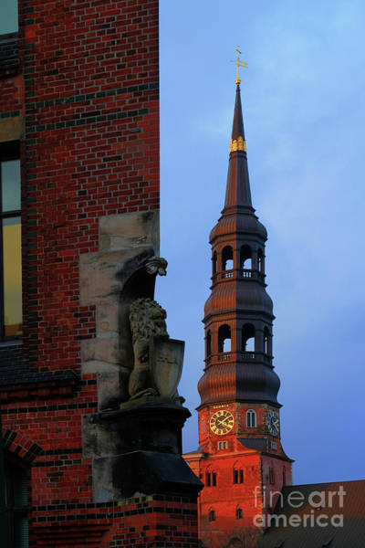 Photograph - A View Of The Church Of St. Catherines From The Speicherstadt by Marina Usmanskaya