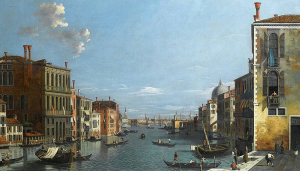 Wall Art - Painting - A View Of The Grand Canal, Venice, Looking East From The Campo San Vio by William James Muller