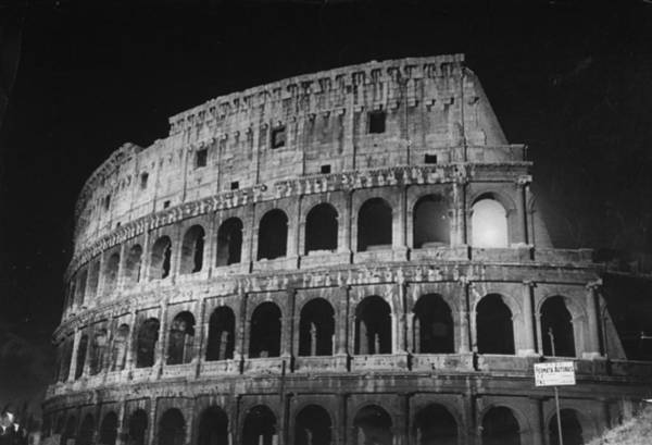 Archaeology Photograph - A View Of The Ruins Of The Colosseum In by Carl Mydans