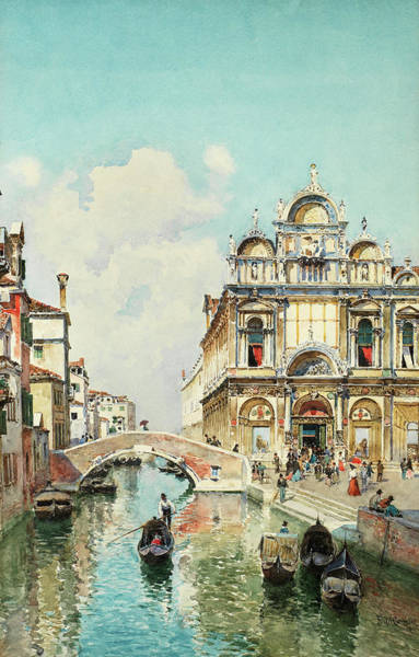 Wall Art - Painting - A View Of The Scuola Grande Di San Marco, Venice by Federico del Campo