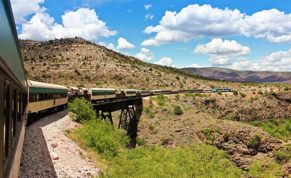 Wall Art - Photograph - A View Of The Verde Canyon Railroad Train, Clarkdale, Az, Usa by Derrick Neill
