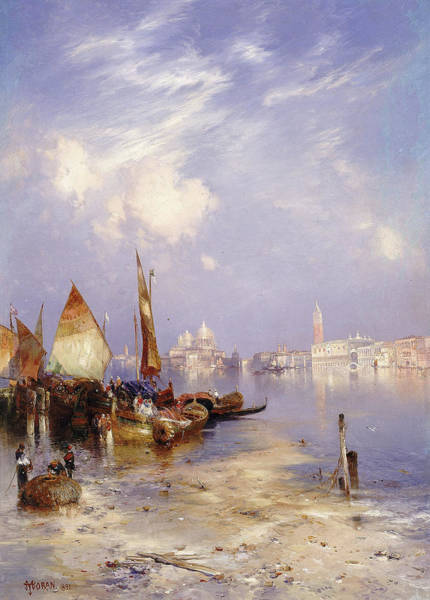 Wall Art - Painting - A View Of Venice, 1891 by Thomas Moran