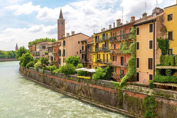 Wall Art - Photograph - A View Of Verona From A Roman Bridge by W Chris Fooshee