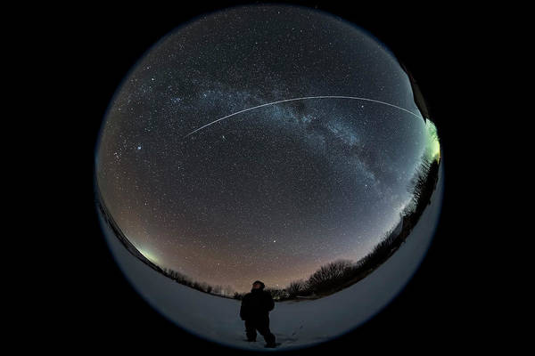 Photograph - A Viewer Gazing Skyward by Alan Dyer