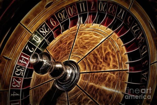 Photograph - A Virginia City Roulette Wheel by Brad Allen Fine Art