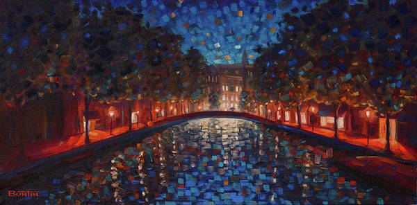 Painting - A Walk In Amsterdam by Rob Buntin