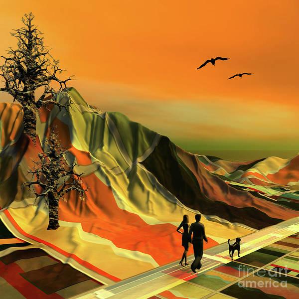 Digital Art - A Walk In The Park by Anne Vis