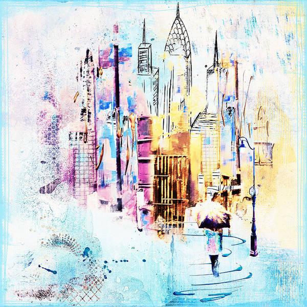 Purple Rain Digital Art - A Walk To Work by Tim Palmer