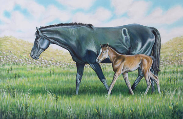 Painting - A Walk With Mom by Tish Wynne
