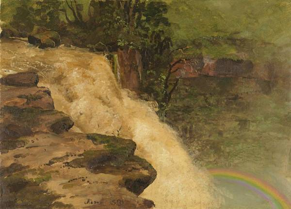 Wall Art - Painting - A Waterfall In Colombia - Digital Remastered Edition by Frederic Edwin Church