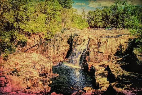 Digital Art - A Waterfall Landscape. by Rusty R Smith