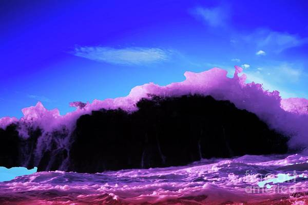 Wall Art - Photograph - A Wave Overcoming A Rock by Jeff Swan