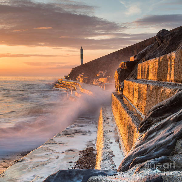 Wall Art - Photograph - A Wave Rushes Towards The Viewer Along by Izzy Standbridge