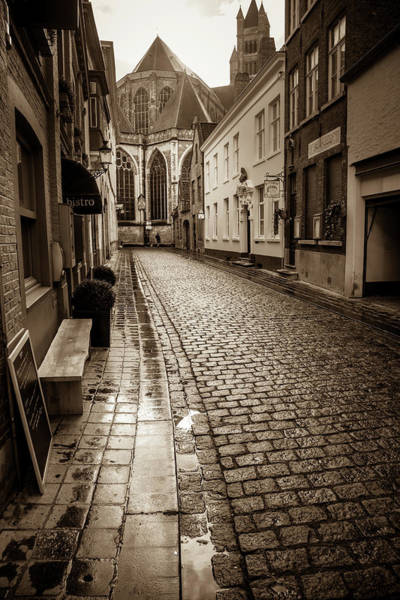 Wall Art - Photograph - A Wet Lane In Brugge by W Chris Fooshee