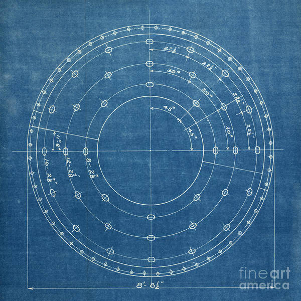 Wall Art - Photograph - A White Circular Drawing On A Blue by Belterz