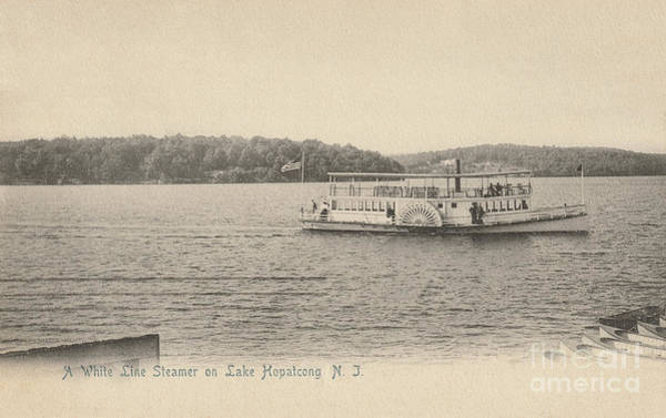 Photograph - A White Line Steamer On Lake Hopatcong by Mark Miller