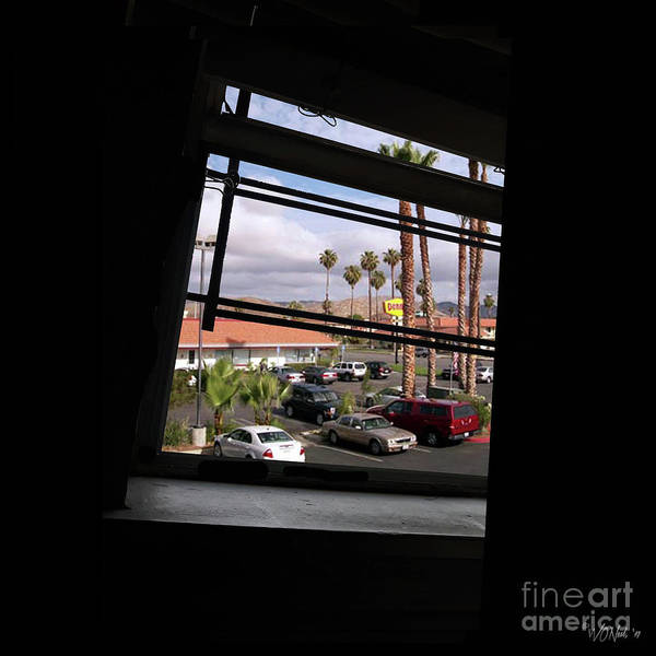 Photograph - Through A Tilted Window In L. A. by Walter Neal