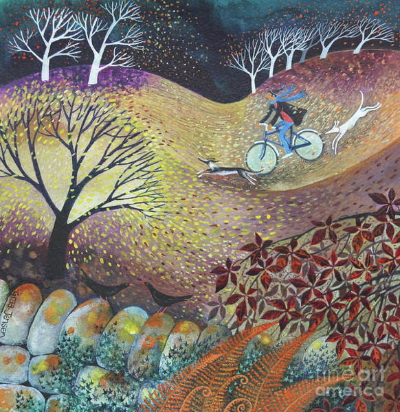 Wall Art - Painting - A Windy Day by Lisa Graa Jensen