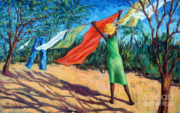 Wall Art - Painting - A Windy Day by Tilly Willis