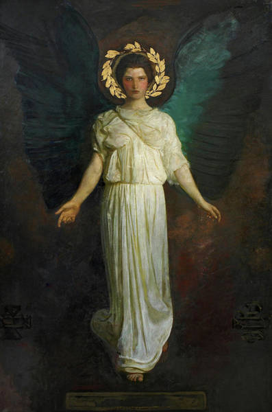 Wall Art - Painting - A Winged Figure, Angel, 1911 by Abbott Handerson Thayer