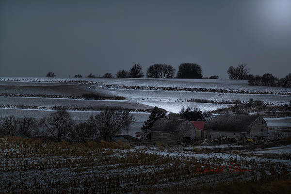 Photograph - A Winter Country Night by Edward Peterson