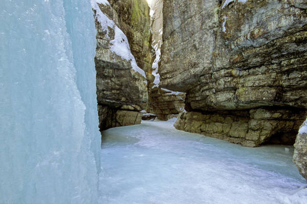 Photograph - A Winter Shot Of Maligne Canyon by Adstock/universal Images Group