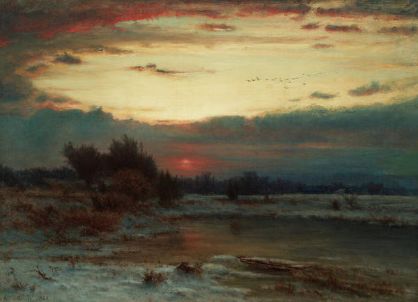 Wall Art - Painting - A Winter Sky, 1866 by George Inness