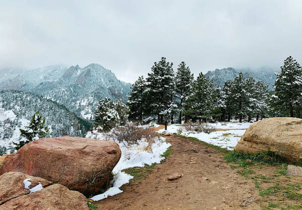 Wall Art - Photograph - A Winter's Day In The Flatirons by Marilyn Hunt